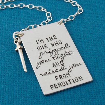 I'm The One Who Gripped You Tight - Castiel Necklace