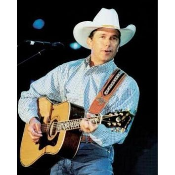 George Strait Guitar 11 inch x 17 inch poster