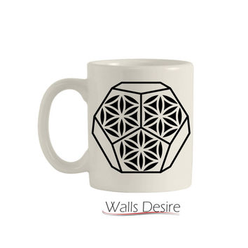 Dodecahedron, Flower Of Life Pattern, 11 Oz. T00110