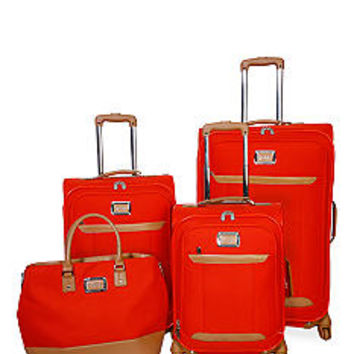 Jessica Simpson Brights Luggage Collection - Coral - Belk.com