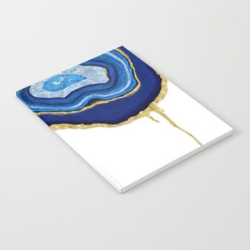 Blue Dripping Agate Notebook by Noonday Design
