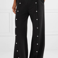 T by Alexander Wang - Coated French terry wide-leg pants