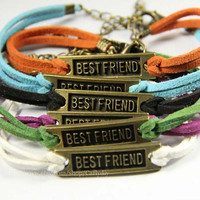 Ancient bronze infinite best friend bracelet - simple adjustable bracelet, friendship gift - graduation gift
