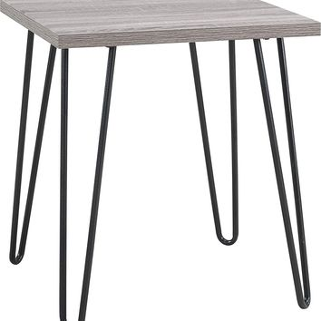 Altra Owen Retro End Table, Sonoma Oak/Gunmetal Gray