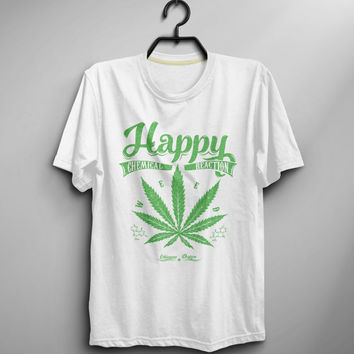Marijuana T Shirts Men Weed Mens Tshirt Cotton O Neck Tops Tee Shirt - Size XS S M L XL (T009)