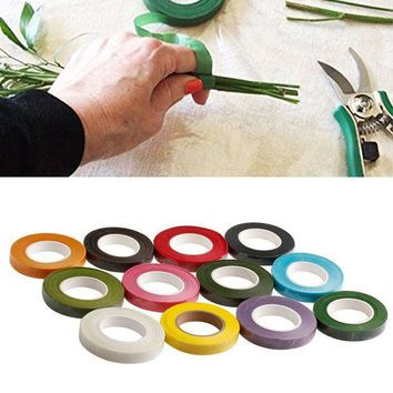 ac NOOW2 Florist Stem Tape - Wire Floral Work - Buttonholes Craft Floristry Green