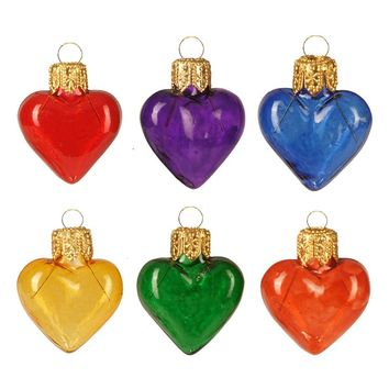 Nordstrom at Home Handblown Glass Gummy Heart Ornaments (Set of 6) | Nordstrom