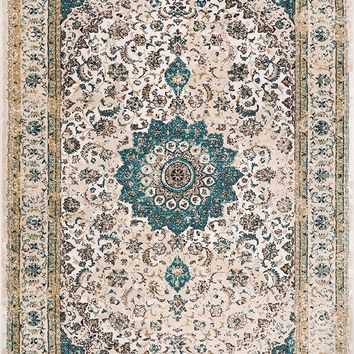 2915 Beige Medallion Plush Persian Area Rugs