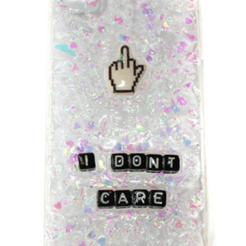 I Don't Care Phone Case with Middle Finger Cursor- Lyssa's Miniatures