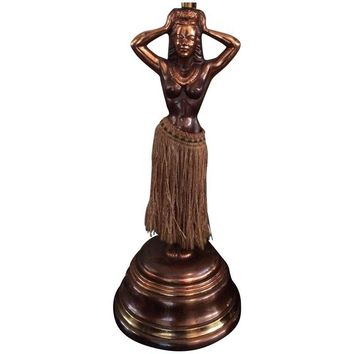 Pre-owned 1940s Dodge Hula Girl Lamp