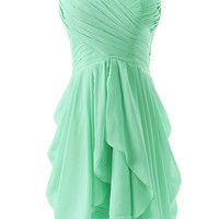 Dressystar Short Strapless chiffon party dress evening dress Mint 4