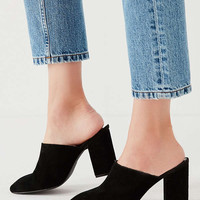 Mod Suede Mule Heel | Urban Outfitters