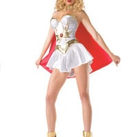 White 5Pc. Ruby The Warrior Costume