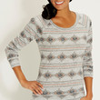 pullover in ethnic print