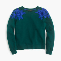 J.Crew Womens Sweatshirt With Floral Appliqué