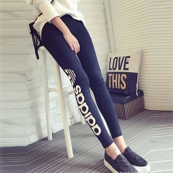 Stretch Skinny Pants Autumn Leggings Print Summer Cotton Sportswear [103808729100]