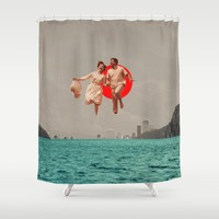 Don't Look Back Shower Curtain by Frank Moth