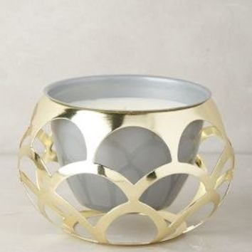 lllume Cut-Work Candle in Gold Size: