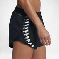 "The Nike Dry Modern Tempo Women's 3"" Graphic Running Shorts."