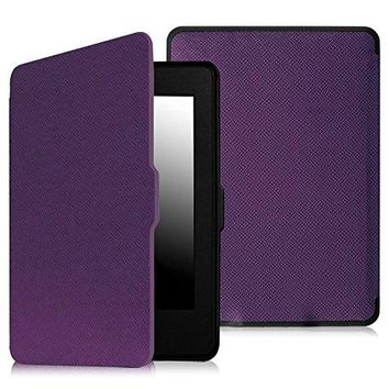 Fintie SmartShell Case for Kindle Paperwhite - The Thinnest and Lightest PU Leather Cover Auto Sleep / Wake for All-New Amazon Kindle Paperwhite (Fits All 2012, 2013, 2015 and 2016 Versions), Violet