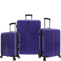 Traveler's Choice Tasmania 3-Piece Expandable Hardside Spinner Set - eBags.com