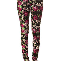 The Railed Legging Jean in Floral Multi