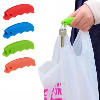 1PC Convenient Bag Hanging Quality Mention Dish Carry Bags Kitchen Gadgets Silicone Candy Color Save Effort Tools