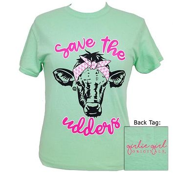 Girlie Girl Originals Save The Udders Cow T-Shirt