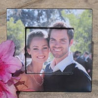 """Custom Engagement Picture Frame, Personalized Wedding Photo Frame, The Original """"Picture in Picture"""" Photo Frame"""