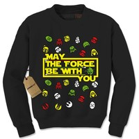 May The Force Be With You Ugly Christmas Adult Crewneck Sweatshirt