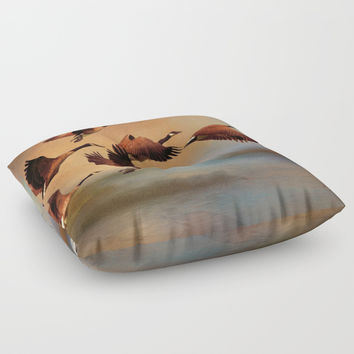 All Things Bright And Beautiful Floor Pillow by Theresa Campbell D'August Art