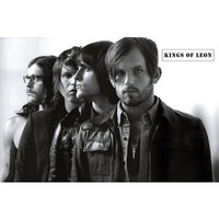 (24x36) Kings of Leon Group Black and White Music Poster Print