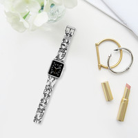 woodland fox party black white apple watch band Apple Watch Band (38mm) by Sharon Turner | Casetify