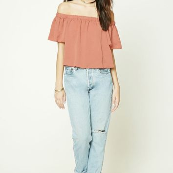 Satin Off-The-Shoulder Top