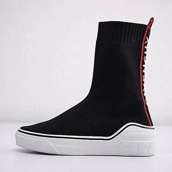DCCKJN6 Givenchy George V Mid Sock Sneaker Knit High Socks Shoes