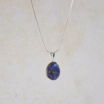 Boulder Opal Pendant Necklace in Sterling Silver