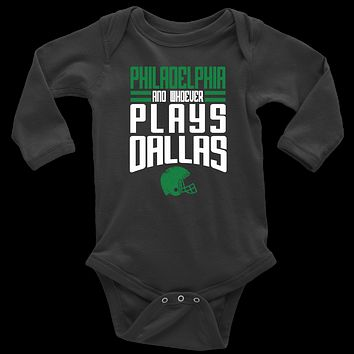 Philadelphia and Whoever Plays Dallas Infant Long Sleeve Bodysuit