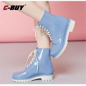 Rubber Rain Boots Women Water Shoes  Women Rain Boots  Women Waterproof  Ankle Boots  For Women