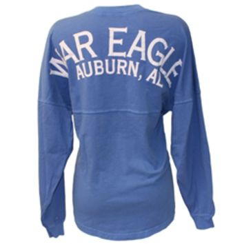 AU Bookstore - LS WAR EAGLE AUBURN , AL PUFF VENLEY YOUTH MONUMENT LONG SLEEVE SPIRIT JERSEY