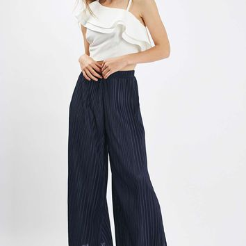 Side Split Pleated Trousers - Clothing
