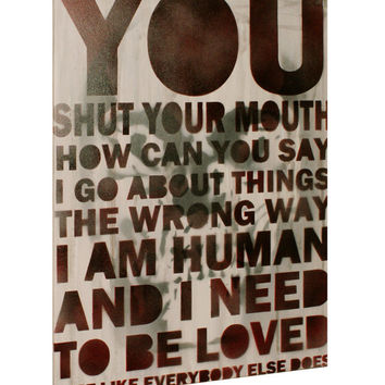 The Smiths Morrissey Lyric Painting 18x24 80s Music Vintage Graffiti Pop Art Street Art Urban Art Song Lyric Interpretation Dorm Room