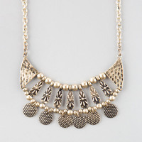 Full Tilt Ethnic Disc Necklace Gold One Size For Women 25138562101