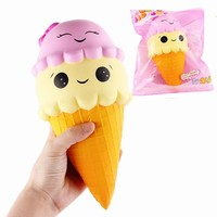Cute Ice Cream Cone Jumbo Squishy 22cm (Great Stress Reliever!)