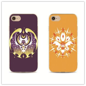 pokemon go sun and moon phone case cover for iPhone 7 plus 4 4s 5 5s 5c se 6 6s design Housing for Samsung S5 S4 S6 S7 S7edge