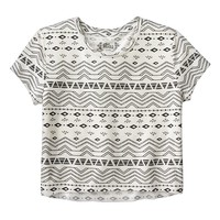 Mudd Crop High-Low Tee - Girls