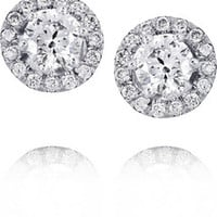 Spectrum Ella 18-karat white gold diamond earrings – 60% at THE OUTNET.COM