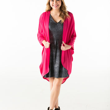 Solid cuffed cardigan-more colors
