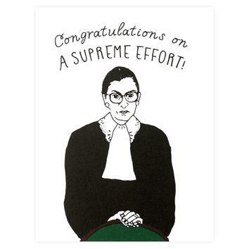 Ruth Bader Ginsburg Supreme Effort Congratulations Card