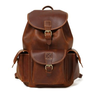 BLUESEBE HANDMADE LEATHER BACKPACK 8891M