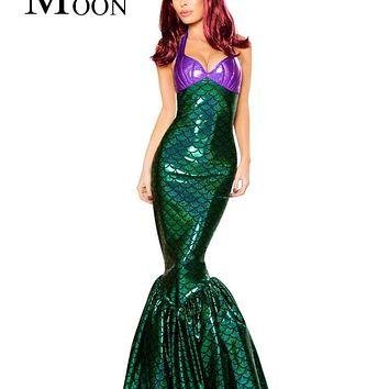 MOONIGHT 2017 Hot Adult Mermaid Costume Halloween Costumes For Parties Sexy Women Carnival Fancy Dress Macchar Cosplay Catalogue